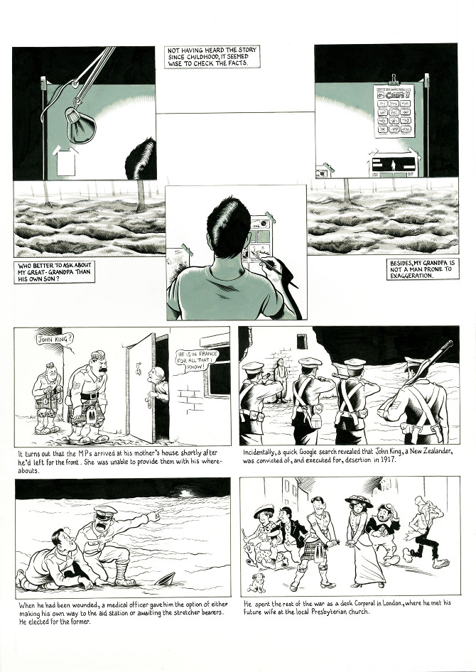 Page 3 A Blighty One First World War Comic Strip By Oliver King