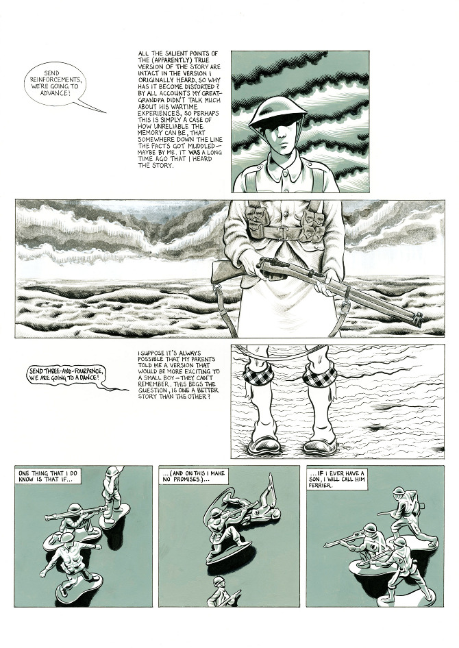 Page 4 A Blighty One First World War Comic Strip By Oliver King