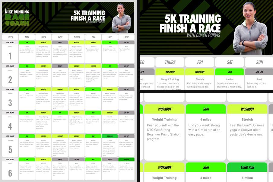 nike running race coach - kristine salm